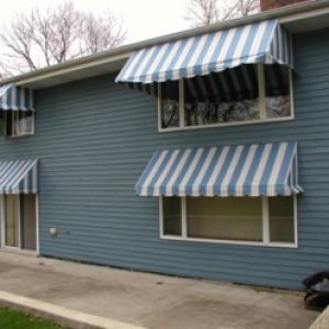 window awnings on home
