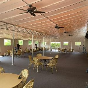 interior of canopy enclosure